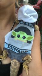 BABY YODA PRINTS 3 XLRG SLEEVELESS BODY HOODY HANDMADE SHIRT 4 BEARDED DRAGON