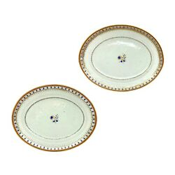 Pair Of 18th Century Chinese Export Porcelain Oval Platters