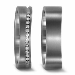 Pair Wedding Rings Bands Engagement Ring With Diamond