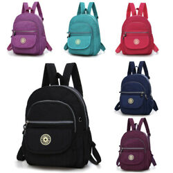 Women Waterproof Mini Backpack Purse Adjustable Strap Shoulder Travel Rucksack $13.99
