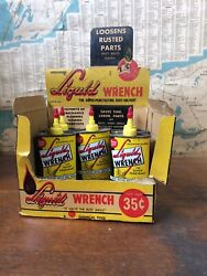 Vintage Liquid Wrench Hardware Store Advertising Display With Five Full Cans