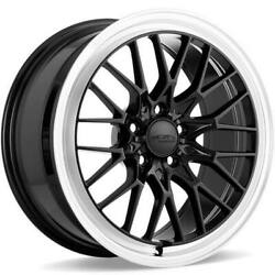 4 19 Staggered Ace Alloy Wheels Aff04 Gloss Piano Black With Diamond Lipb41