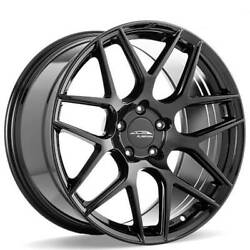 4 19 Staggered Ace Alloy Wheels Aff11 Gloss Piano Black Rimsb41