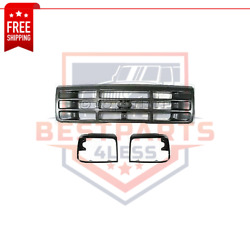 New Grille Assembly With Headlight Doors Kit For 1992-1996 Ford F-150