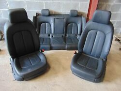 Audi A7 4g 11-14 Full Set Black Leather Seats Interior Electric Heated Front