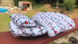 HEARTBEATS PULSES ❤️ PRINTS LRG ATTACHABLE RESTING BED COVER 4 BEARDED DRAGONS