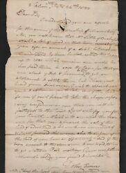 Maine 1822 Stampless Folded Letter To Moses Greenleaf Re Land In Williamsburg