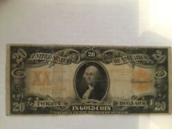 1906 20 Gold Certificate In A Protective Sleeve