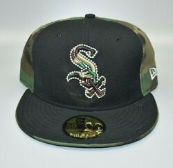 Chicago White Sox New Era 59fifty Camo And Black Fitted Cap Hat - Size 7 1/2