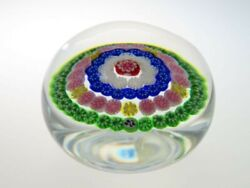 Baccarat Millefiori Thousand Flowers Ornament Paper Weight Good Condition