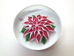 Baccarat Dahlia Flower Ornament Paper Weight 0972 Good Condition