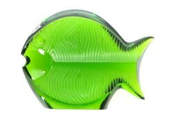 Baccarat Fish Ornament Paper Weight Green Good Condition