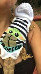 BABY YODA PRINTS 5 XLRG SLEEVELESS BODY HOODY HANDMADE SHIRT 4 BEARDED DRAGON
