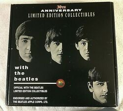 Beatles With The Beatles 30th Anniv. Hat T-shirt Pins Sticker Promo Official