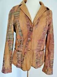 Vince Fitted Leather Blazer Coat Jacket Safari Brown Black Fawn 8 10 12 Camel Xl
