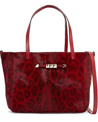 New And Authentic Valentino 2445 Rockstud Calf-hair Tote Bag