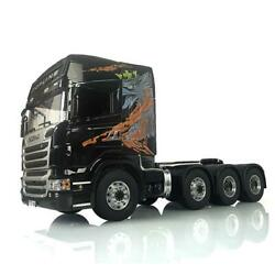 Lesu 88 Metal Chassis 1/14 Rc R730 Scania Tractor Truck Painted Hercules Cabin