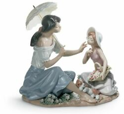 lladro As Pretty As A Flower Mother Figurine 01006910