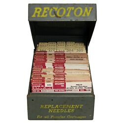 Vintage Nos Recoton Replacement Phonograph Needles In File Box