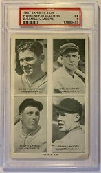 1937 Exhibits 4 On 1 P.whitney/w.walters/d.camilli/j.moore Psa 5