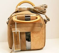 Abbie and Emmie Crossbody Over Shoulder Handbag W Top Wood Handle. $39.99