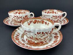 Copeland Spode India Indian Tree Three 3 Cups And Saucers