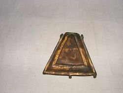 Old Real Mughal Copper Gilded Powder Flask. Cover Missing And Some Wear And Tear
