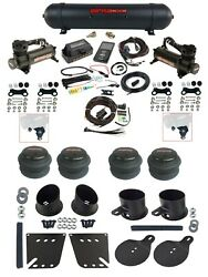 Complete Air Ride Suspension Kit Airlift 27685 3/8 3p Black 480 For 58-64 Impala