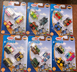 New Thomas And Friends Minis 6 3-packs Sushi Bertie Queen Belle Diesel Trains 18