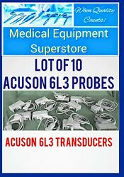 Lot Of 10 Acuson 6l3 Cardiac Ultrasound Probes Transducers Low Reserve