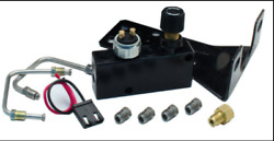 Gm Black Adjustable Prop Valve / Dist. Block Kit 9/16 And1/2 Fittings Ss Lines
