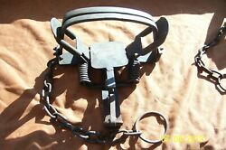 Vintage Unusual Pioneer 3 Offset Convertible Coil Spring Trap Antique Newhouse