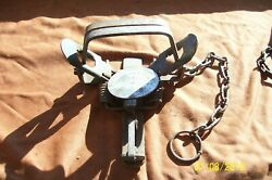 Vintage Unusual Pioneer 2 Convertible Coil Spring Trap Antique Newhouse