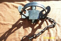 Vintage Unusual Pioneer 1 1/2 Convertible Coil Spring Trap Antique Newhouse
