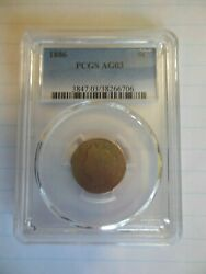 1886 Liberty Head V Nickel Pcgs Ag03  Rare Key Date Low Mintage Coin