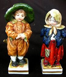 Dresden Porcelain Figurines Young Waifs High Quality C.1820