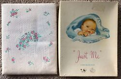 Vintage Baby Record Book For A Boy Keepsake Book Just Me Sanitoy Blue Unused