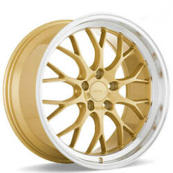 4 19 Ace Alloy Wheels Aff10 Gold With Machined Lip Rimsb43