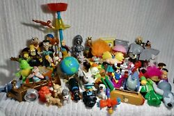 Vintage Disney Happy Meal Toys Mixed Lot Of 46 Fast Food Toy Kids Bk Mcdonalds +