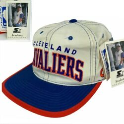 New Vintage Starter Academy Nba Cavaliers Spell Out Side Logo Snapback Hat Nwt