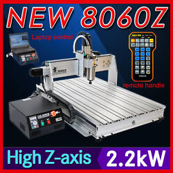 Usb 3 Axis 8060 2200w Cnc Router Engraving Milling Cutting Machine Engraver