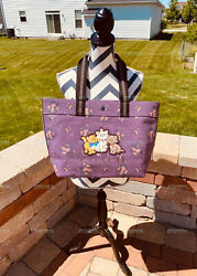 NWT Coach 91130 Disney Tote Bag Rose Bouquet Print Aristocats Limited edition $139.99
