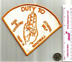 1960and039s Marlton Nj Duty To God Council Troop 14 Official 7 Patch Boy Scout