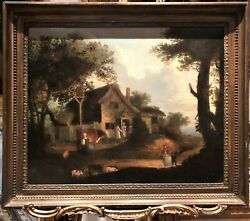 Large Old Master Oil Painting 17th /18th Century 1700's In A Neo Classical Frame