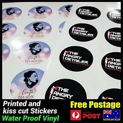 Custom Round Circle Logo Business Stickers Packaging Label Print And Cut Decals
