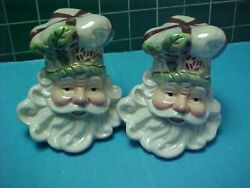 Victorian-style Santa Head Salt And Pepper Shakers