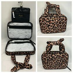 NWT victoria's Secret Animal Print Trifold Makeup Cosmetic Travel Organizer Bag $26.99