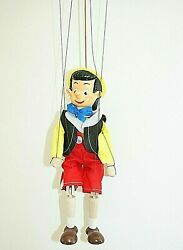 Pinocchio Marionette Handmade 4 Strings Puppet Clay Wooden Art Doll 22cm/8.7″