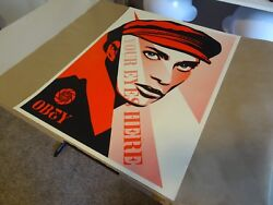 2010 Shepard Fairey Obey Giant Your Eyes Here Art Print Street Paster Poster 1