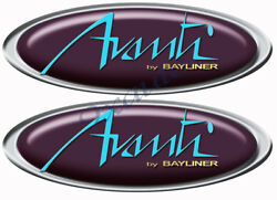 Two Bayliner Avanti Boat Oval Stickers For Restoration Project
